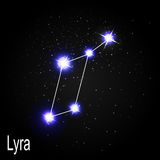 Lyra Constellation with Beautiful Bright Stars on the Background Stock Photo