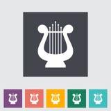 Lyra flat icon Royalty Free Stock Image