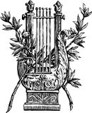 Lyre with a branches Royalty Free Stock Image