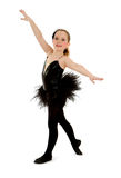 Lyrical Child Dancer in Black Recital Costume Stock Image