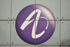 lysande alcatel företagslogo Arkivbild
