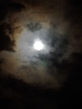 Lysande fullmåne Royaltyfri Bild