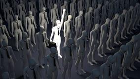 lysande person för egenart Symbol av individualism Affär stock illustrationer