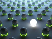 lysande sphere för egenart stock illustrationer