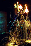 lysande stål Fotografering för Bildbyråer