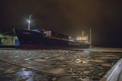 Lysbris停泊了对码头 免版税图库摄影