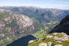 Lysebotn fjord, Norway Royalty Free Stock Photography