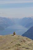 Lysefjord和石雕塑02 免版税图库摄影