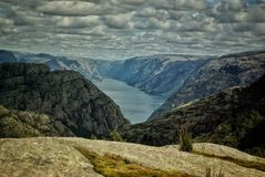 Lysefjord挪威 免版税库存照片