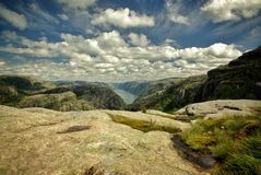 Lysefjord挪威 库存照片