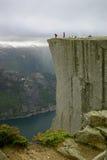 lysefjord Норвегия сверх prekestolen взгляд Стоковая Фотография