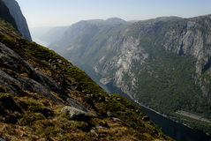 Lysefjord Royalty Free Stock Image