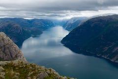 Lysefjord Stock Foto's