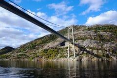 Lysefjord bridge from beneath Stock Image
