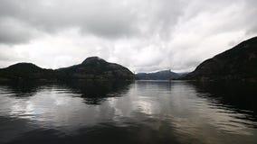 The Lysefjord Bridge stock video