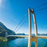 Lysefjord bridge near Forsand, Rogaland, Norway Royalty Free Stock Photos