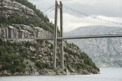 Lysefjord Bridge Up Close View From Beneath Royalty Free Stock Image