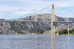 Lysefjord Brucke桥梁在挪威 免版税库存照片