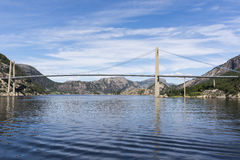Lysefjord Brucke bridge in Norway Stock Images