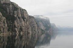 Lysefjord Mitte Lizenzfreie Stockfotos
