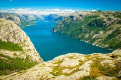 Lysefjord, Noorwegen Stock Foto's