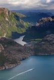 Lysefjord, Norvegia Immagini Stock Libere da Diritti