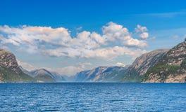 Lysefjord in Norway Stock Photo