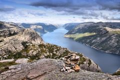 Lysefjord, Norway Royalty Free Stock Image