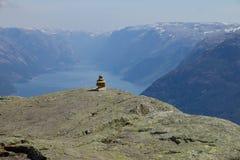 Lysefjord widok 037 Zdjęcia Royalty Free