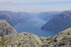 Lysefjord widok 058 Obrazy Stock