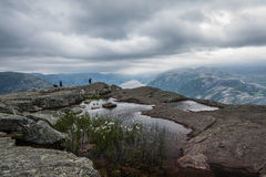Lysefjorden from Pulpit rock Stock Photo
