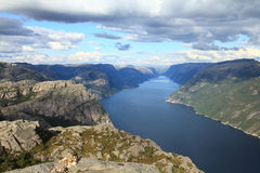 Lysefjorden Royalty Free Stock Photos