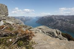 Lysefjorden Royalty-vrije Stock Afbeelding