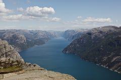 Lysefjorden Royalty-vrije Stock Foto's
