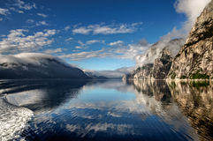 Lysefjorden fjord Royaltyfri Fotografi