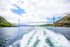 Lysefjordlandschap noorwegen Stock Fotografie