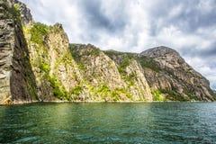 Lysefjordlandschap noorwegen Stock Foto