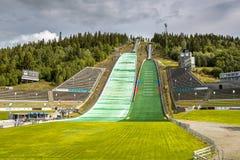 Lysgardsbakken narciarskiego doskakiwania trampolina obraz stock