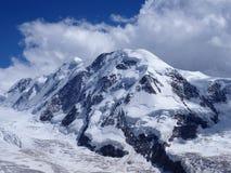 Lyskamm, ghiacciaio al paesaggio del massiccio di Monte Rosa di catena montuosa alpina svizzera in alpi, SVIZZERA da Gornergrat Immagini Stock Libere da Diritti
