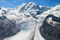 Lyskamm and Grenz glacier Stock Photography