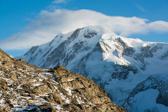 Lyskamm mountain peak Stock Image