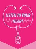 Lyssna till din hjärtaillustration Arkivfoto