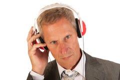 Lyssna till musik Arkivfoton