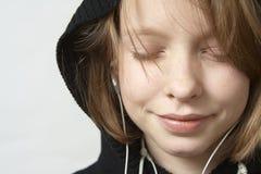 Lyssna till musik Royaltyfria Foton