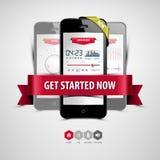 Lyssna till musik från din smartphone Royaltyfri Fotografi