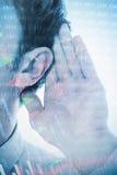 Lyssnande affärsman 3d Arkivbilder
