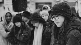 Lyssnande anförande för högstadiumstudenter arkivbilder