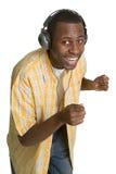 lyssnande manmusik Arkivfoton