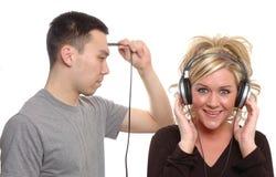 lyssnande meningar till Royaltyfri Fotografi