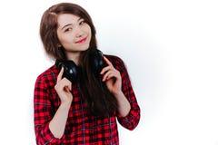 lyssnande musik för barn Royaltyfria Bilder